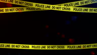police yellow tape frame for night crime scene incl alpha video
