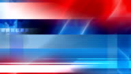 Political collection: three-coloured background, white, blue, red, video