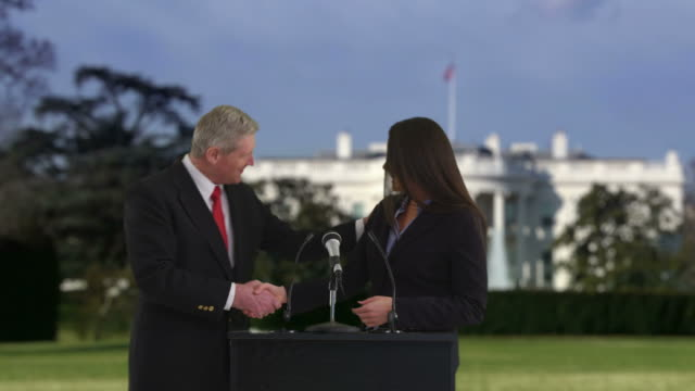 Politician speaking in front of White House video