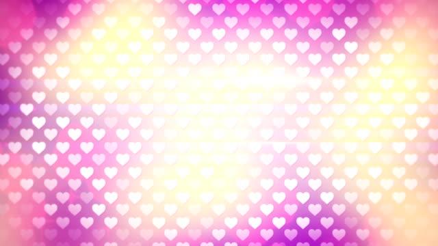 polka dot hearts loopable background video