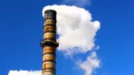 Polluting Factory Emitting Dirty Smoke video