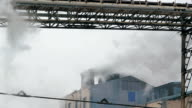Pollution Smoke from Factory Chimneys video