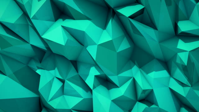 Polygonal abstract surface. Semless loop 3D render video