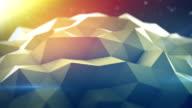 Polygonal shape vibrating seamles loop 3D render video