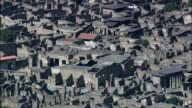 Pompeii In Afternoon Light  - Aerial View - Campania, Naples, Pompei, Italy video
