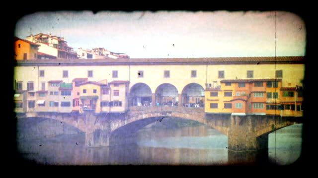 Ponte Vecchio bridge in Florence, Italy. HD video