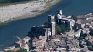 Pont-Saint-Esprit  - Aerial View - Languedoc-Roussillon, Gard, Arrondissement de Nîmes, France video