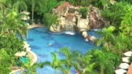 Pool at a luxury resort and spa video
