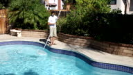 Pool Cleaning Man video