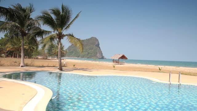 Pool sea view video