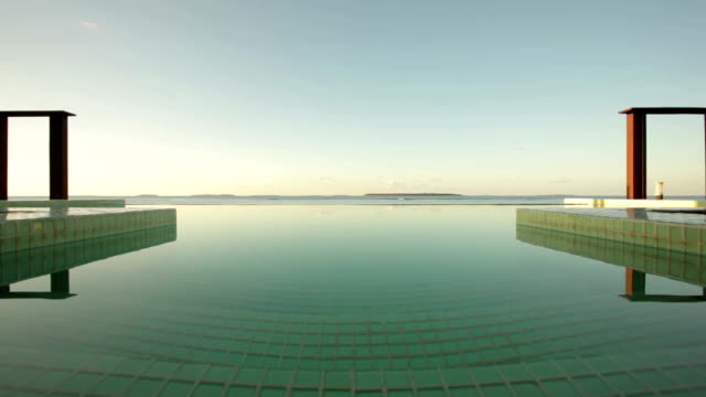 pool surface in front of ocean video