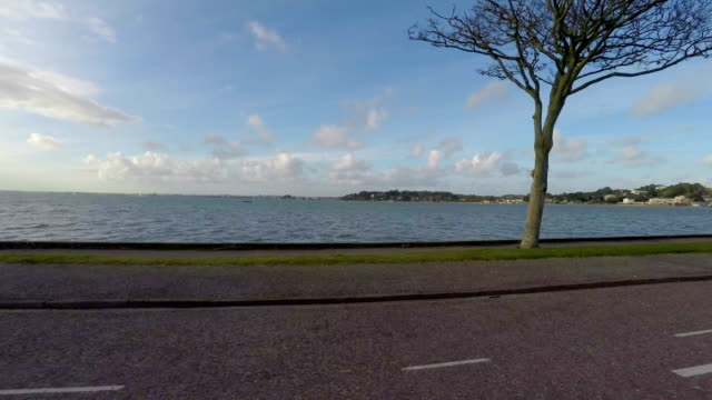 Poole Harbour drive by in Poole, Dorset, England. video