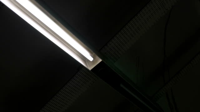 Poor lighted ceiling video