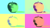 Pop Art Apples Loop. HD video