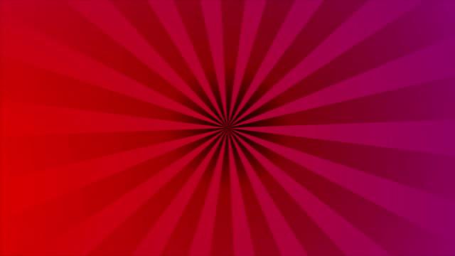 Pop art retro red purple beams video animation video