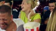 Popcorn battle in cinema video