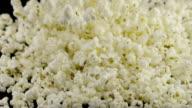 popcorn falling in slow motion video