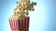 Popcorn spilling, Slow Motion video