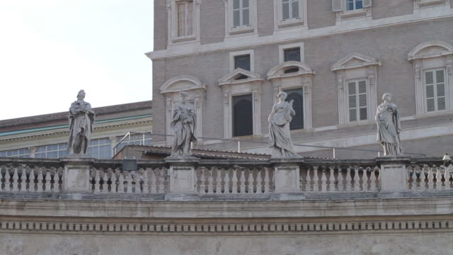 Pope Windows at Saint Peter's Square in Vatican video