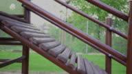 Porch in children's playground. Slider shot. video