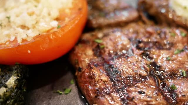 Pork steak with vegetable video