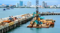 Port Construction On The Sea TIME LAPSE video