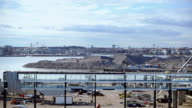 Port harbor under construction video