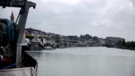 Port in Trouville, France video
