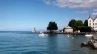 Port in Vevey at Geneva lake video