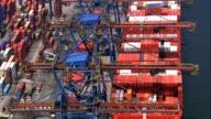 Port Of Santos Container Port  - Aerial View - São Paulo,Santos,Brazil video