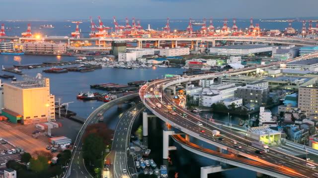 Port of Yokohama in Japan video