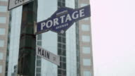 Portage and Main Sign video