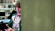Portait of male student in university video