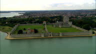 Portchester Castle  - Aerial View - England, Hampshire, Fareham District, United Kingdom video