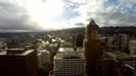 Portland Aerial Cityscape Downtown video