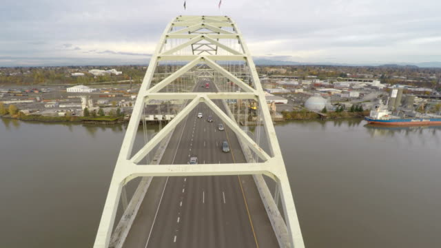 Portland Aerial Fremont Bridge video
