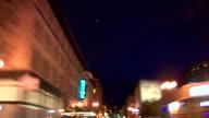 Portland City Driving 20 Night Rear View video
