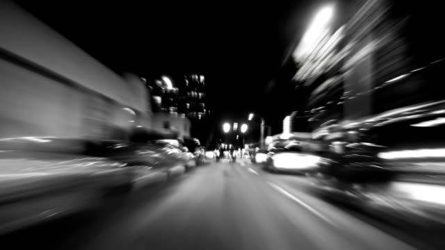 Portland City Driving Time Lapse BW video