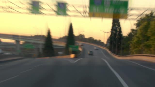 Portland Highway Driving 18 Sunset video