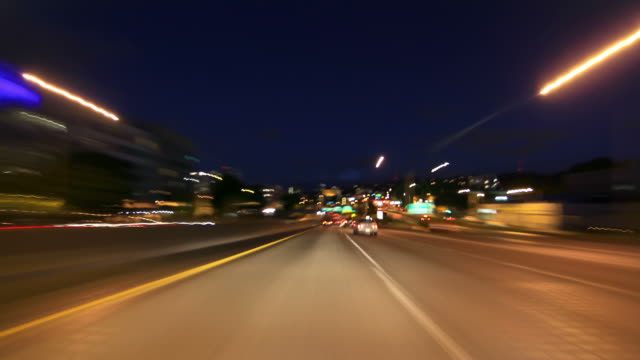 Portland Highway Driving Time Lapse Night video