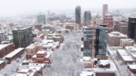 Portland, Oregon covered in snow video