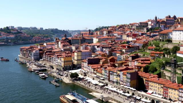 Porto city at bright sunny day video