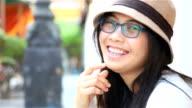 HD: Portrait asian woman laugh and smile. video