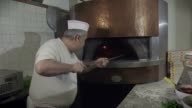 Portrait Man At Work Cook Pizza Restaurant Kitchen Food Italy video