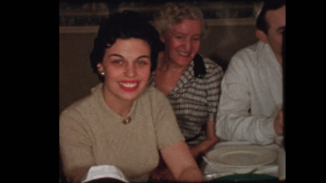 Portrait of 50's Jewish family at Passover seder video