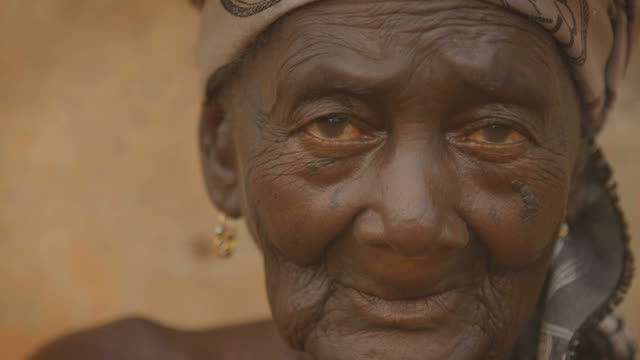 Portrait of a beautiful old african woman video