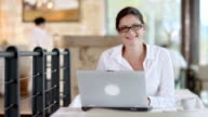 HD: Portrait Of A Businesswoman Using Laptop video