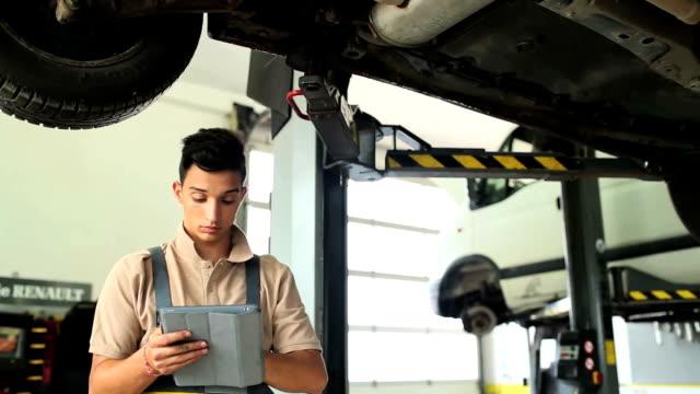 Portrait of a Car Mechanic video