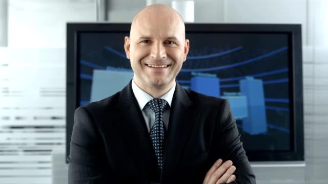 HD DOLLY: Portrait Of A Confident Businessman video