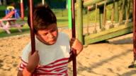 Portrait of a depressed child video